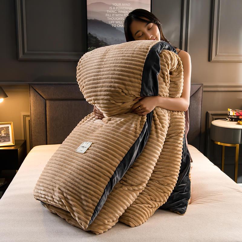Coral fleece bedding set; Milk Flannel Duvet Cover (11)